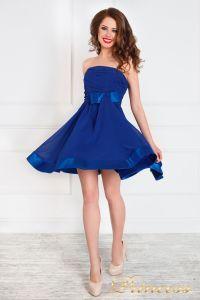 Вечернее платье 120702. Цвет электрик . Вид 1