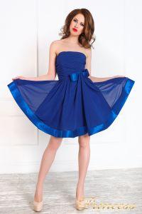 Вечернее платье 120702. Цвет электрик . Вид 2