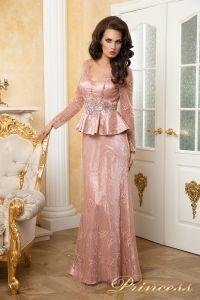 Вечернее платье 12074. Цвет розовый. Вид 1