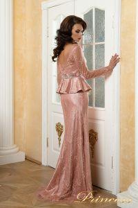 Вечернее платье 12074. Цвет розовый. Вид 2