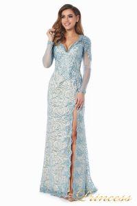 Вечернее платье 12075. Цвет голубой. Вид 3