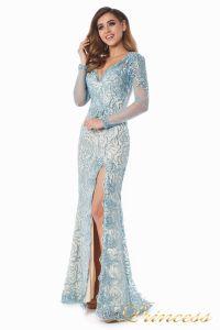 Вечернее платье 12075. Цвет голубой. Вид 2