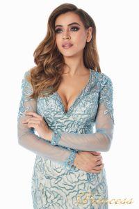 Вечернее платье 12075. Цвет голубой. Вид 4