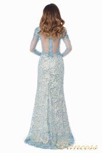 Вечернее платье 12075. Цвет голубой. Вид 5
