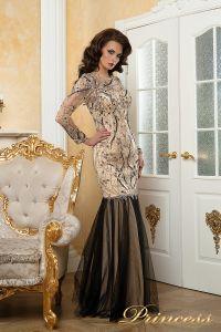 Вечернее платье 12076. Цвет цветочное. Вид 1