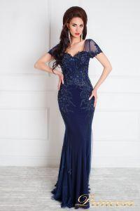 Вечернее платье 12079. Цвет синий. Вид 2