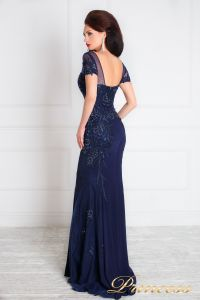 Вечернее платье 12079. Цвет синий. Вид 4