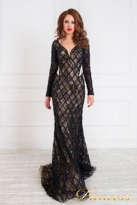 Вечернее платье 12080. Цвет чёрный. Вид 1