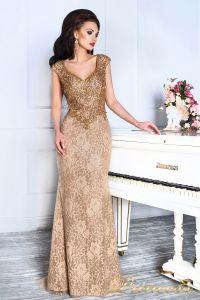 Вечернее платье 12082. Цвет коричневый. Вид 2