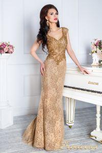 Вечернее платье 12082. Цвет коричневый. Вид 3