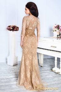 Вечернее платье 12082. Цвет коричневый. Вид 6
