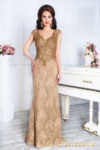 Вечернее платье 12082. Цвет коричневый. Вид 5