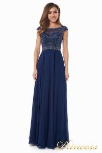 Вечернее платье 12083-1 navy. Цвет синий. Вид 2