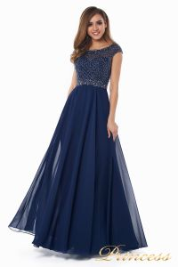 Вечернее платье 12083-1 navy. Цвет синий. Вид 3
