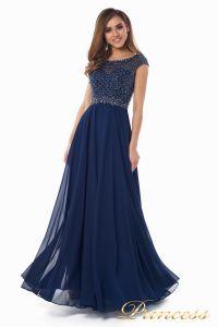 Вечернее платье 12083-1 navy. Цвет синий. Вид 4