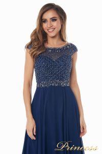 Вечернее платье 12083-1 navy. Цвет синий. Вид 5