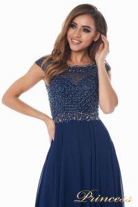 Вечернее платье 12083-1 navy. Цвет синий. Вид 6
