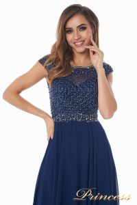 Вечернее платье 12083-1 navy. Цвет синий. Вид 7