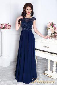 Вечернее платье 12083. Цвет синий. Вид 1