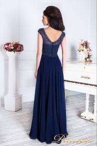 Вечернее платье 12083. Цвет синий. Вид 3