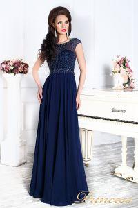 Вечернее платье 12083. Цвет синий. Вид 4