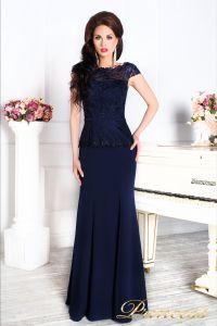 Вечернее платье 12084 темно синего цвета navy. Цвет синий. Вид 3