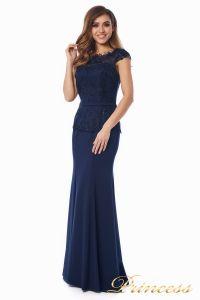 Вечернее платье 12084-1 navy. Цвет синий. Вид 2