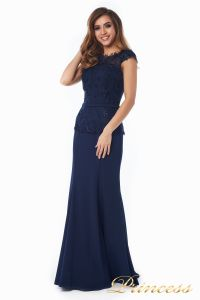 Вечернее платье 12084-1 navy. Цвет синий. Вид 5