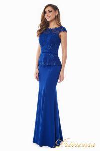 Вечернее платье 12084 royal small. Цвет электрик . Вид 1