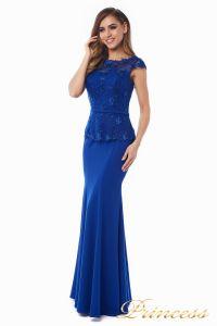Вечернее платье 12084 royal small. Цвет электрик . Вид 2