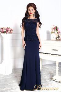 Вечернее платье 12084 темно синего цвета navy. Цвет синий. Вид 2