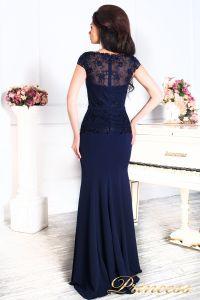 Вечернее платье 12084 темно синего цвета navy. Цвет синий. Вид 4