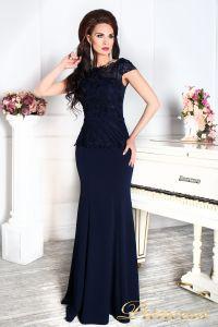 Вечернее платье 12084 темно синего цвета navy. Цвет синий. Вид 5