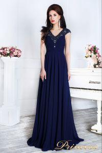 Вечернее платье 12085. Цвет синий. Вид 3