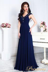 Вечернее платье 12085. Цвет синий. Вид 2