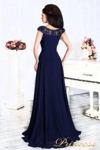 Вечернее платье 12085. Цвет синий. Вид 6
