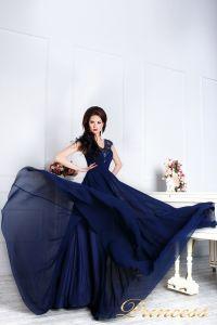 Вечернее платье 12085. Цвет синий. Вид 5