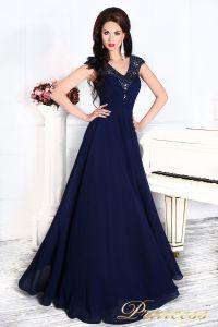 Вечернее платье 12085. Цвет синий. Вид 1