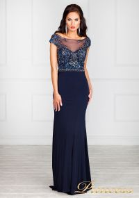 Вечернее платье 12086. Цвет синий. Вид 2