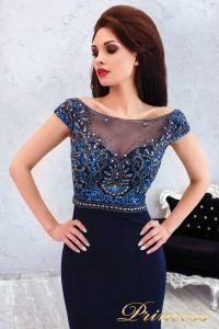 Вечернее платье 12086. Цвет синий. Вид 3