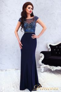 Вечернее платье 12086. Цвет синий. Вид 4