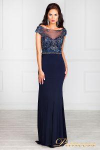 Вечернее платье 12086. Цвет синий. Вид 7
