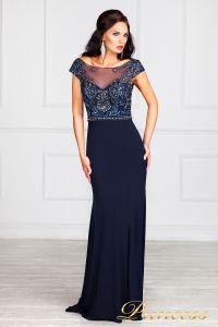 Вечернее платье 12086. Цвет синий. Вид 9