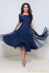 Вечернее платье 1208. Цвет синий. Вид 1