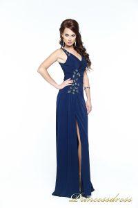 Вечернее платье 121163. Цвет синий. Вид 2