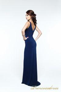 Вечернее платье 121163. Цвет синий. Вид 3