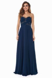 Вечернее платье 121256. Цвет синий. Вид 3