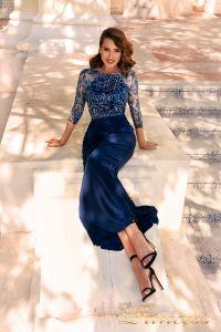 Вечернее платье NF-2132. Цвет синий королевский . Вид 2