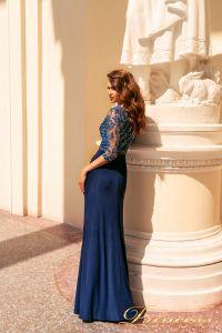 Вечернее платье NF-2132. Цвет синий королевский . Вид 4