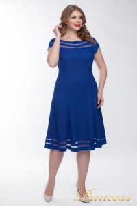 Коктейльное платье 1217 blue. Цвет электрик . Вид 1